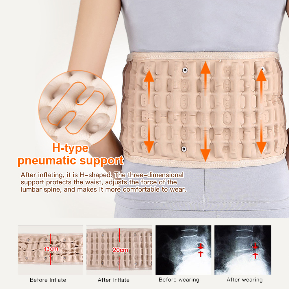 Spinal Air Decompression Traction Waist Protector Lumbar Support Back Belt 29 to 49 Inch