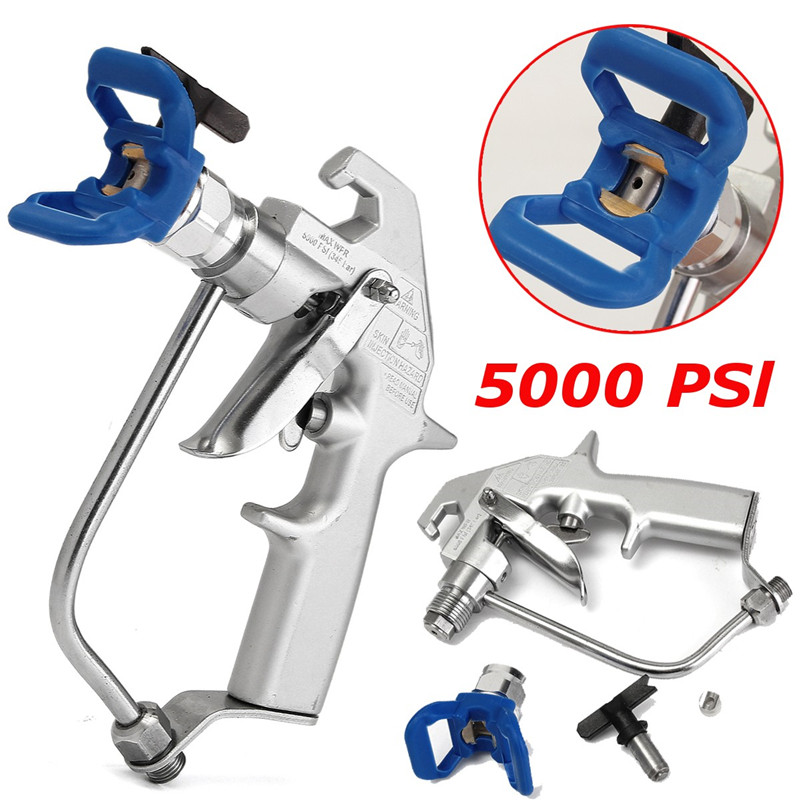 5000PSI High Pressure Airless Paint Spray Gun Sprayer With 517 Spray Tip Nozzle Guard Power Tool Accessories Spraying Machine