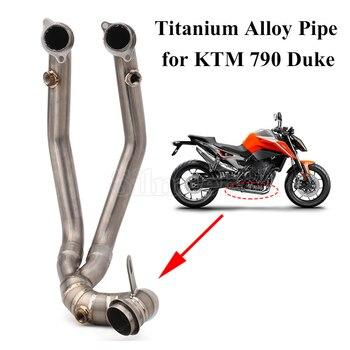 DUKE 790 Full System Titanium Alloy Slip-On pipe For KTM 790 duke 790 Motorcycle Exhaust Escape Manifold Front Link Pipe