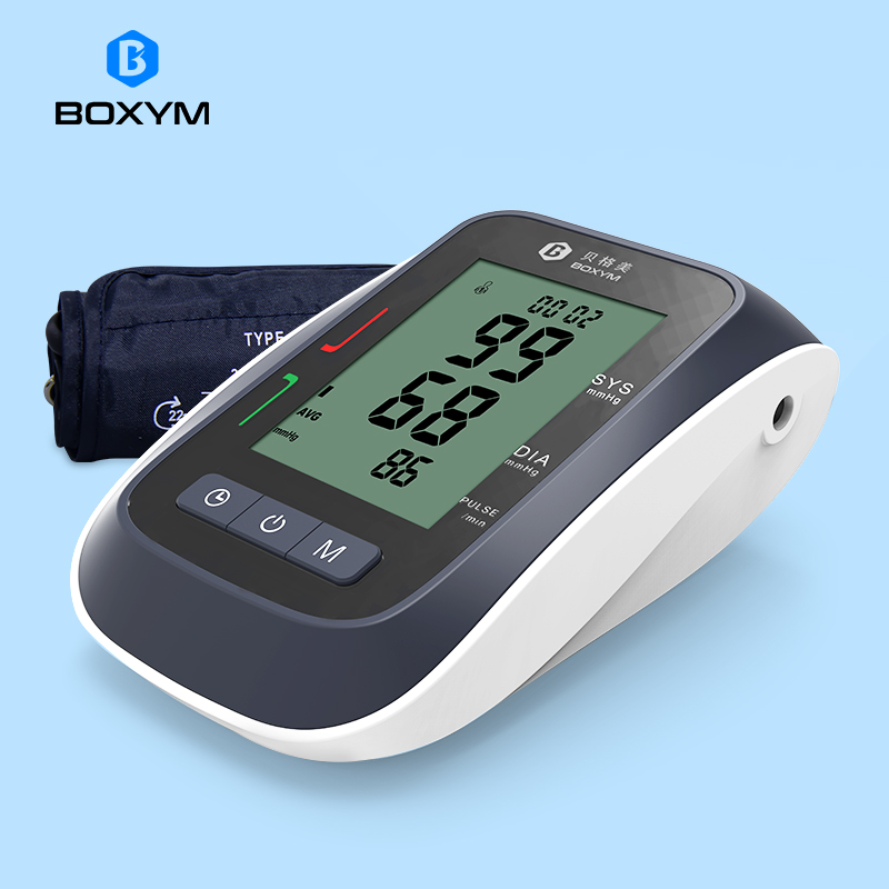 BOXYM Automatic Digital LCD Upper Arm Blood Pressure Monitor Sphygmomanometer Upper Cufffor Tonometer Pulsometer Health Care
