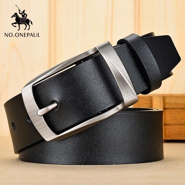 Authentic men's leather business fashion retro belt 1