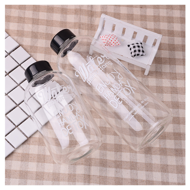 Glass transparent water cup flower teacup bottle cute  glass waters plastic Brief Thermal Insulation