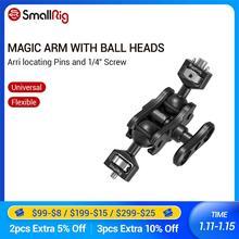 """SmallRig Magic Arm Mit Doppel Kugelkopf (Arri ortung Pins und 1/4 """"Schraube) zu Montieren Smallrig Käfig/Monitor 2115"""