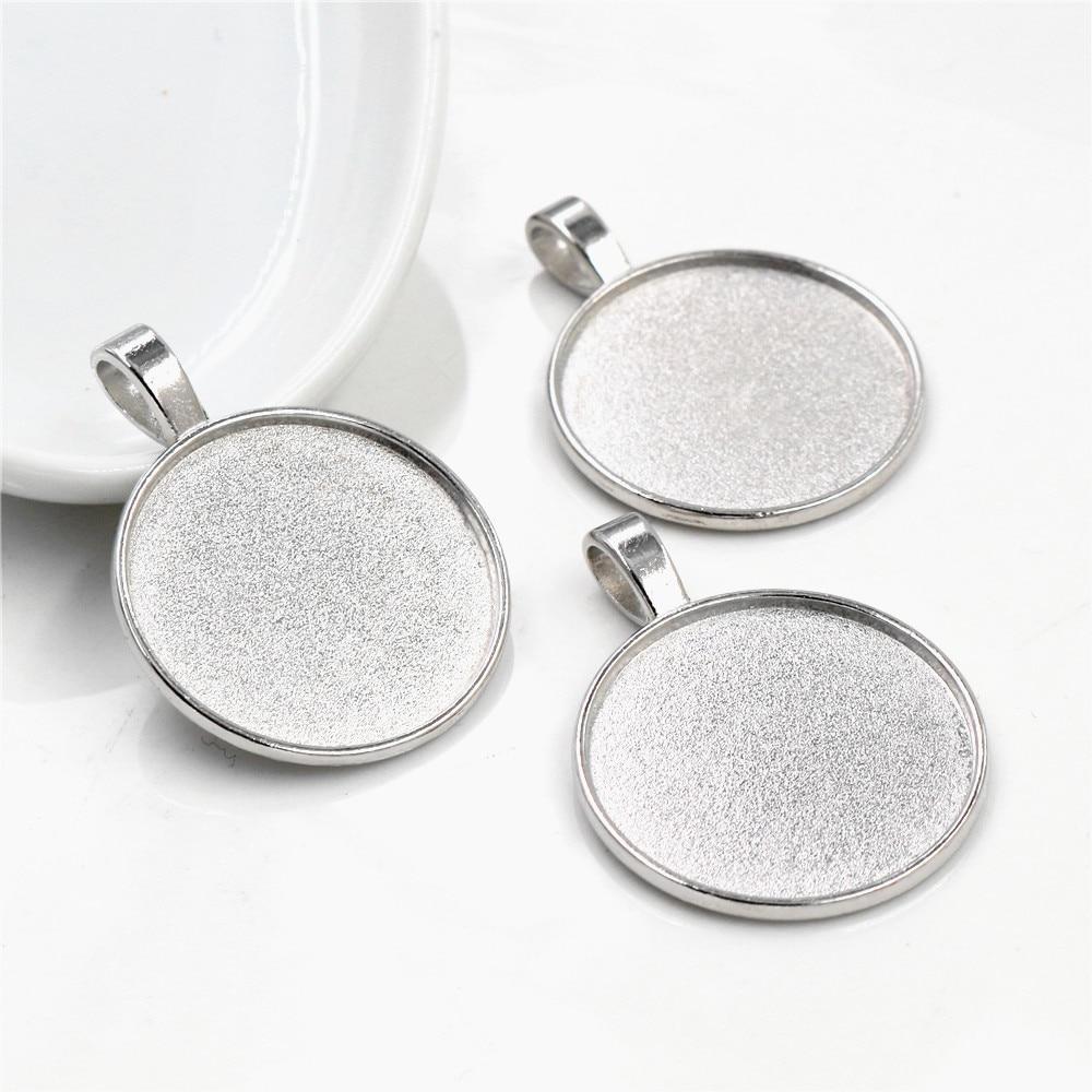Hard spot pendant tray Cabochon Setting supply with 25mm round bezel,20pcs//lot