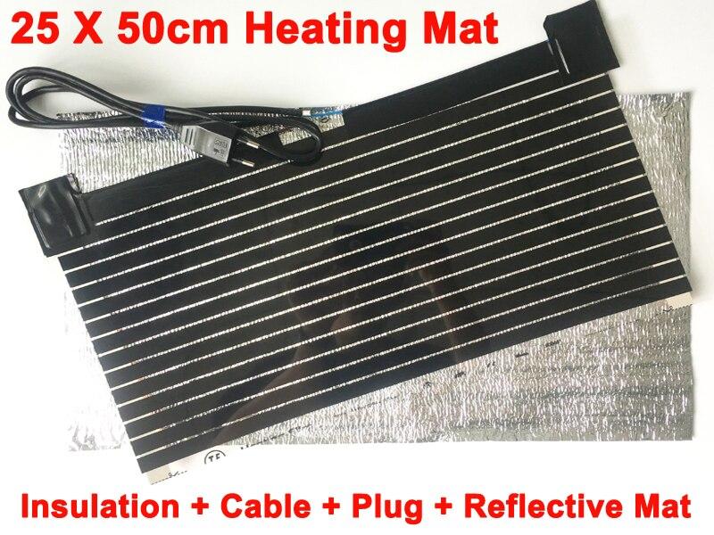 AC220V Far Infrared Carbon Electric Heating Mat Heating Film With EU Plug Reflective Mat Warming Hands Feet Fish Tank Pet House