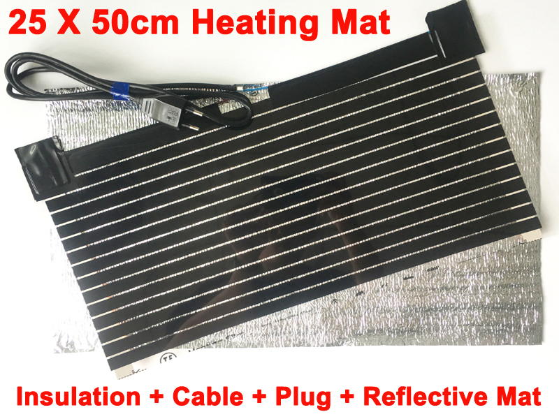 AC220V Far Infrared Carbon Electric Heating Mat Heating Film With Plug And Reflective Mat Warming Hands Feet Fish Tank Pet House