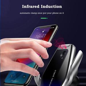 Image 2 - 15W מטען אלחוטי אינפרא אדום חיישן אוטומטי Qi טעינה מהירה טלפון מחזיק רכב הר עבור IPhone 12 11 XS XR 8 סמסונג S20 S10