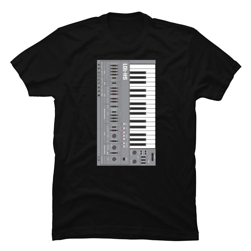 Electron Synthesizer Tech T Shirt Synthwave Science Alan Walker T-Shirt for Men Pure Cotton Mens T-Shirt Custom Tops Shirt Gift image