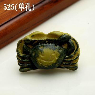 1 шт. морская серия полимерные ручки тянет ручка ящика шкафа и ручка для домашнего оборудования дверные ручки для мебели морская Морская звезда - Цвет: 525 crab