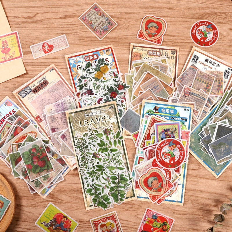 12sets Kawaii Stationery Stickers Retro Bills DIY Craft Scrapbooking Album Junk Journal Happy Planner Diary Stickers