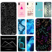 luxury Soft Silicone Phone Case Biology Chemistry DNA for Ap