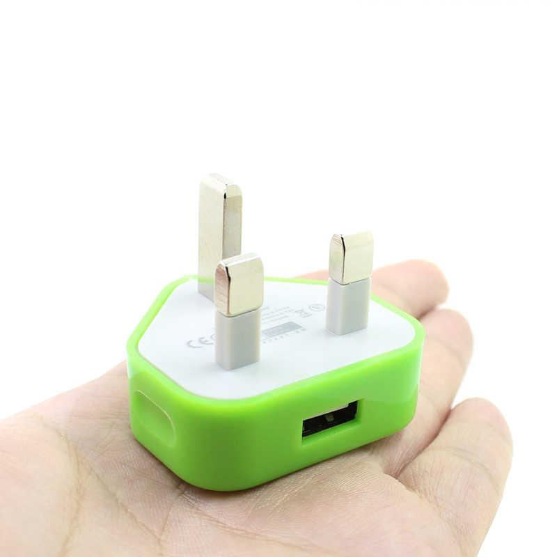 Brytyjska wtyczka zasilacz sieciowy 3 Pin USB zasilacz ładowarka do telefonów komórkowych Tablet OUJ99