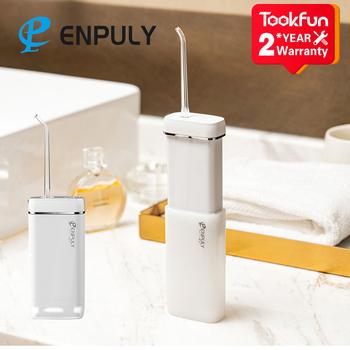 Nowy ENPULY Mini przenośny irygator doustny Dental irygator zęby Flosser irygator wodny bucal czyszczenia zębów waterpulse 130ML tanie i dobre opinie TOOKFUN CN (pochodzenie) Elektryczny irygator do jamy ustnej dla dorosłych ENPULY Oral Irrigator akumulator 5V-1A IPX8