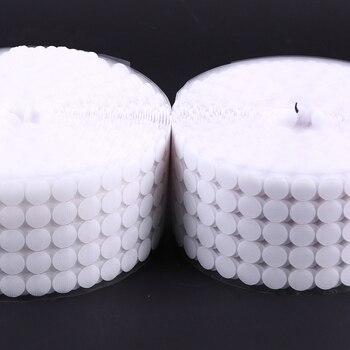 Bande adhésive auto-adhésive à points   100 paires de points, bande fixation 10/15/20/25mm disque, Velcros adhésif, colle forte, autocollant pièces rondes, boucle de crochet 1