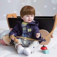Muñeco sonriente de silicona suave para niños, juguete de bebé renacido realista de 22 pulgadas, 55cm, Boneca, regalos de navidad
