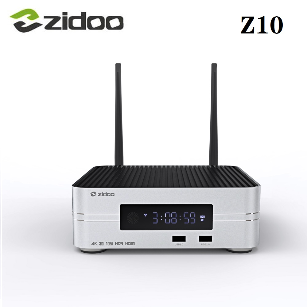 Zidoo Z10 Smart TV Box 4K HD Up to 10TB 2GB RAM 16GB ROM Set Top Box 10Bit Automatic Framerate <font><b>Switching</b></font> <font><b>SDR</b></font> to HDR Media Player image
