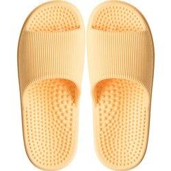Casa casal chinelos 2019 moda massagem chinelos de banho anti-deslizamento fundo macio eva solas interior feminino masculino respirável sapatos