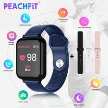 PEACHFIT reloj inteligente B57 IP67 para hombre y mujer, reloj inteligente deportivo con control del ritmo cardíaco y de la presión sanguínea y del oxígeno