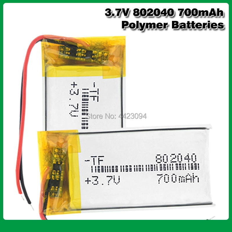 <font><b>3.7v</b></font> Rechargeable 802040 Li Ion Polymer Lithium <font><b>Batteries</b></font> Pcb Charge Protected <font><b>Lipo</b></font> Li-polymer <font><b>700mAh</b></font> Replacement Cell image