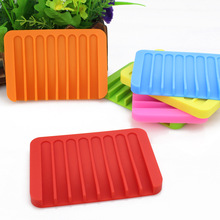 Portable Soap Dishes Bathroom Shower Silicone Flexible Storage Plate Drain Home Products