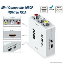 1080P Mini HDMI to VGA to RCA AV Composite Adapter Converter with 3.5mm Audio cable VGA2AV / CVBS + Audio to PC HDTV Converter ahd to hdmi vga cvbs converter monitor video to hdmi vga cvbs converter