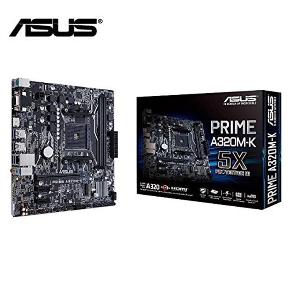 ASUS motherboard prime a320M-K AMD Ryzen AM4 DDR4 HDMI VGA M.2 USB 3.1 Micro-ATX brand new original a320 mainboard 2011