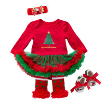 Costume-Dresses Christmas-Outfits Bebe Toddler Baby-Girls My 1st Red Pattern for 9M 12M