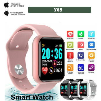 Digital Watch Sport Y68 Fitness Smart Watches For Men Women Ladies Bluetooth Bracelet Remote Camera With Mobile Phone Search