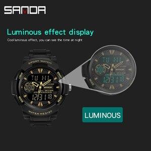 Image 3 - Часы наручные SANDA мужские электронные, спортивные Водонепроницаемые многофункциональные светодиодные цифровые в стиле милитари, для плавания