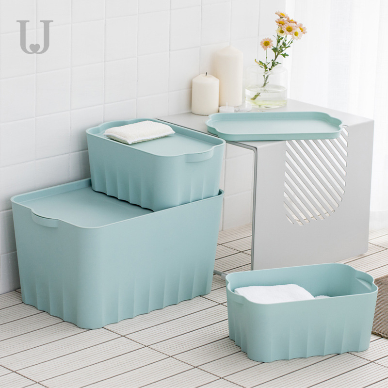 Zuo Dun Judy Household Storage Box Hipster Large Thick Plastic Clothes Toy Storage With Lid Storage Box