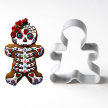 1pcs Patisserie Reposteria Gateau Skull Molds Metal Cookie Cutter Sugar Fondant Cake Decor Tools Biscuit Paste Pastry Shop Mould(China)