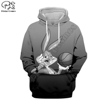PLstar Cosmos Bugs Bunny casual cartoon Harajuku 3D Printed Hoodie/Sweatshirt/Jacket/shirts Men Women hiphop funny fit style-1