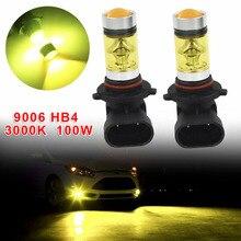 Для автомобиля 2 шт./компл. 9006/HB4 12V100W3000K желтая светодиодный ная фара противотуманная фара для BMW E39E60E90 автомобильные аксессуары