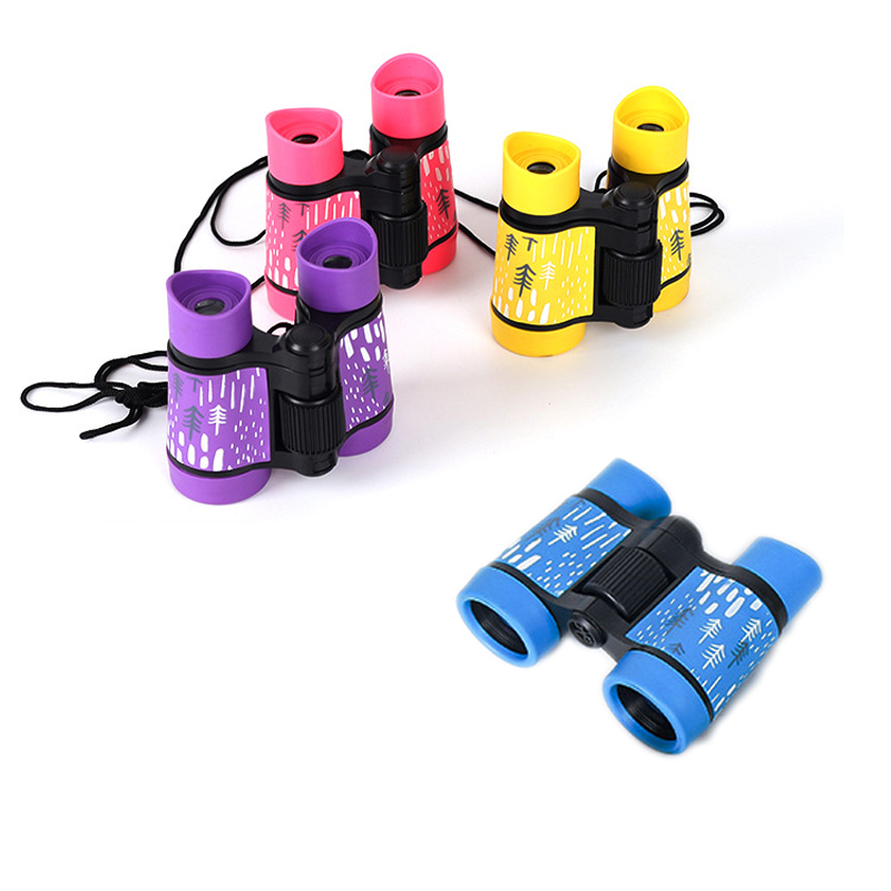 4x30 Children Telescope Mini Binoculars For Kids Outdoor Camping Travel Sports Colorful Cute Telescope Kids Special Toys Gifts