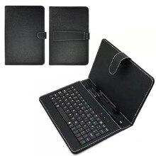 Новая клавиатура пылезащитный черный PU+ PC кожаный чехол с подставкой Чехол для android Tablet 10,1 дюймов со встроенной USB проводной клавиатурой