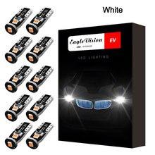 цена на 10pcs CANBUS Error Bulbs 12V Wedge Lamp LED Car Tail Bulb Brake Lights Band Decoder Sign T10 3SMD 5050 Led Car Light W5w 194 168