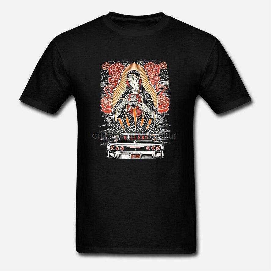 Sullen Мужская Бездымная футболка Черная Дева Мария Татуированная одежда