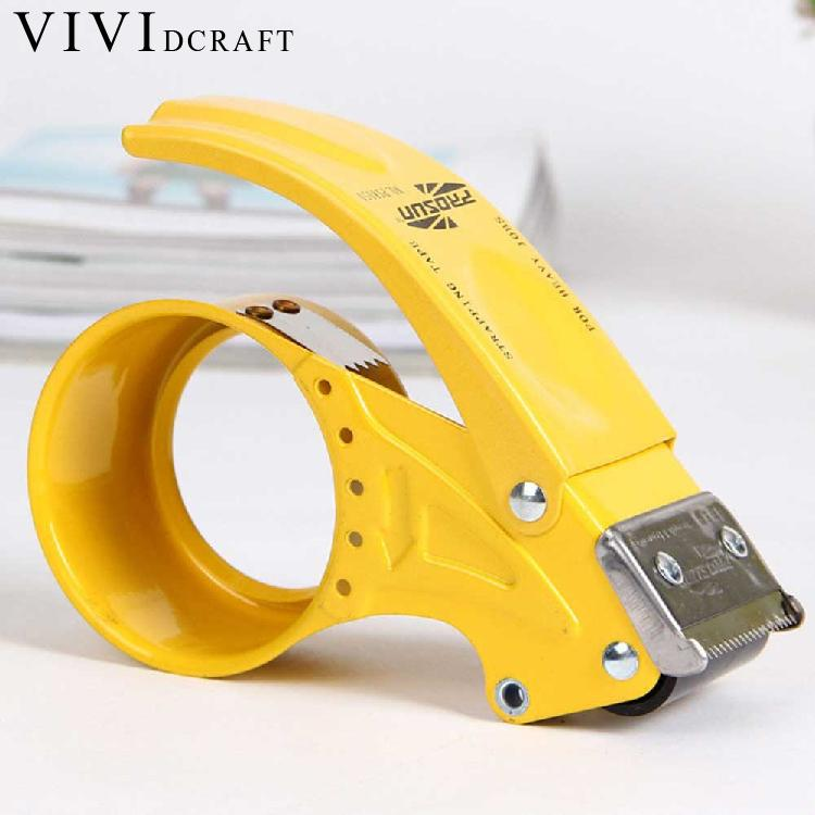 Vividcraft Adhesive Tape Dispenser Sealing Machine Supplies Dispenser Washi Machine Office Metal Tape Hand-held Mini L1L8