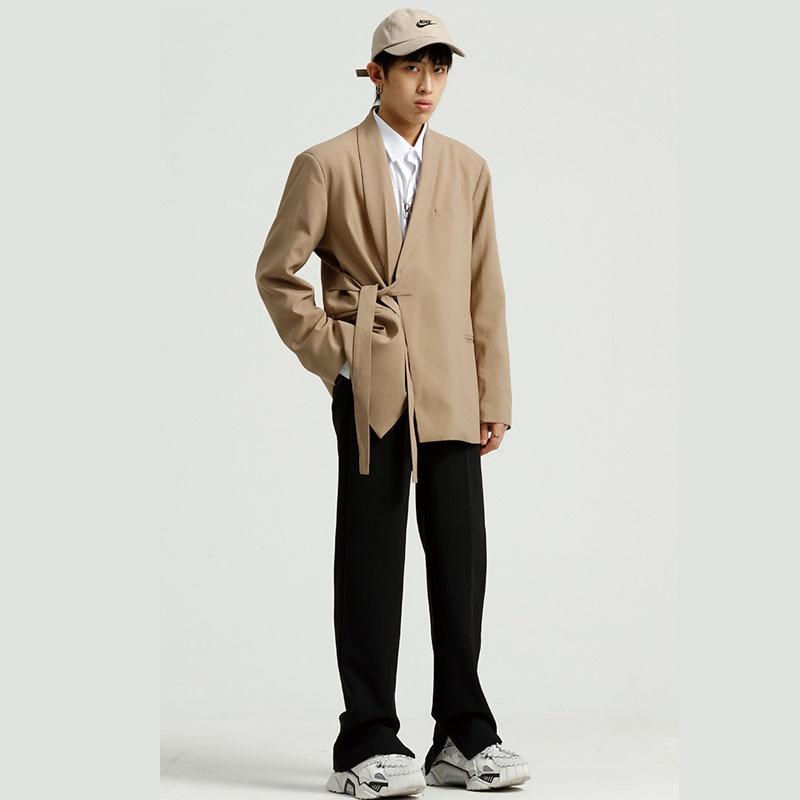 Men's Kimono Handsome Casual Suit Jacket Overcoat Male Spring Autumn Blazer Coat Cardigan Outerwear
