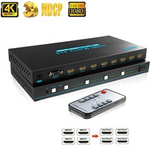 4 em 4 para fora interruptor matriz 4 a 4 com interruptores remotos do ir rs232 divisor do switcher da matriz 4x4 de hdmi sgeyr 4k hdmi