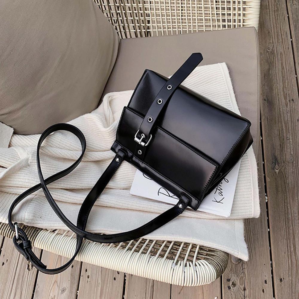 Solid Color Leather Crossbody Bag Women's Flap Crossbody Bags Magnetic Buckle Brand Design Shoulder Bags Ladies Handbag #20