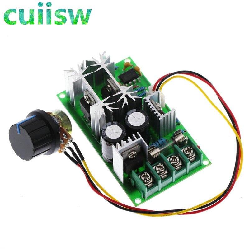 Regulador de velocidad del motor de CC de DC10-60V, 12V 24V 36V 48V, controlador de velocidad del Motor PWM de alta potencia Módulo regulador, regulador de corriente 20A