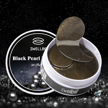 Czarna perła kolagen kryształowe oko maska żel płatki pod oczy 60 sztuk pielęgnacja oczu maski do snu Remover ciemne koła Anti Age Eye Wrinkle tanie i dobre opinie images Kobiet Black Pearl Collagen Crystal Eye Mask 60Pcs Eye Care Sleep Masks Blueberry Eye Care Sleep Masks Chiny Anty-obrzęki