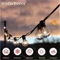 25 круглых прозрачных лампочек G40, уличная садовая Свадебная Гирлянда для внутреннего дворика, праздничная Декоративная гирлянда