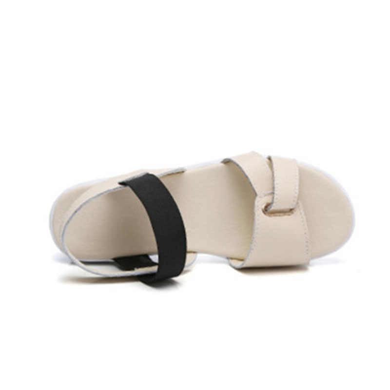 BEYARNE รองเท้าแตะหญิงฤดูร้อนใหม่เกาหลีรุ่นแบนรองเท้าแตะด้านล่างหนารองเท้าเปิดเท้า SandalsE998