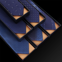 High Quality 2019 New Designers Brands Fashion Business 7cm Slim Ties for Men Necktie Blue Cool Work Wedding with Gift Box