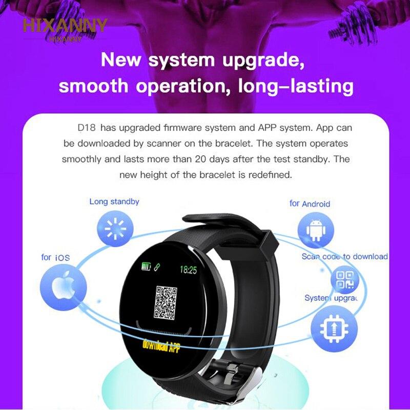 Smart Watch Men Blood Pressure Smartwatch Women Waterproof Sport Heart Rate Fitness Tracker Watches for Android IOS Smart Clock 6