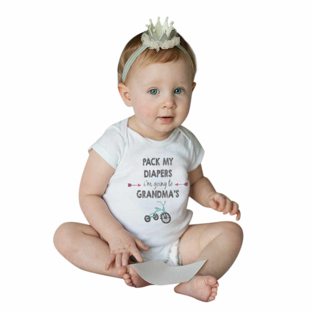 Fashion New Summer baby romper Newborn letter printing romper infants baby kids jumpsuit short sleeve clothes