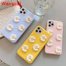 Real Flowers Back Cover For Vivo IQOO Z1X V19 Y70S X50 Pro Y50 Y30 Neo 3 S6 Z6 V17 Case Little Daisies flower Soft TPU Cover()