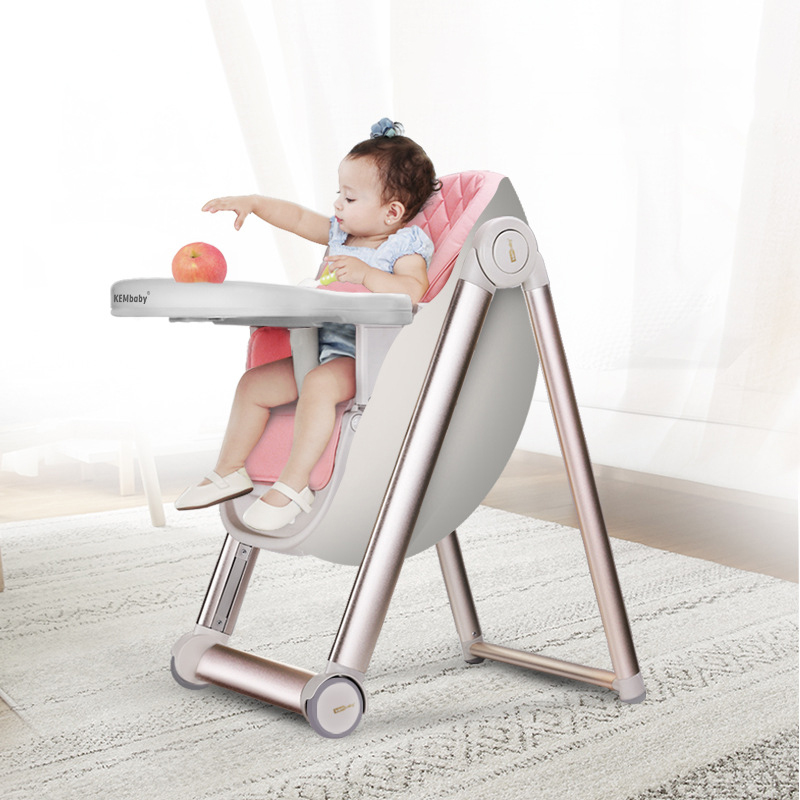 Multi-function Aluminum Alloy  Can Adjustable Baby Dining Chair Portable Kids Table Stool Learning Chair Infant Seat